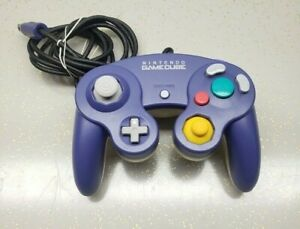 Official Nintendo GameCube Controller Indigo Purple & Clear Back Nice and Clean