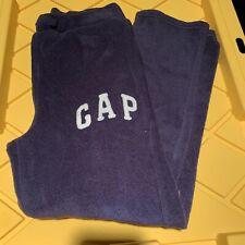 Boys Gap Kids Navy Blue Fleece Drawstring Sweatpants Size L