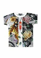 Kinder T-Shirt Shirt Kids kurzarm Tattoo Rockabilly Oldschool Six Bunnies Tiger