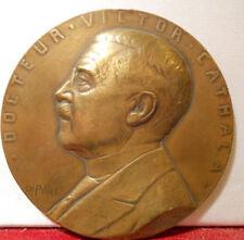1935 Médaille Bronze Docteur Cathala Maternité Hopital Saint Louis par Pillet
