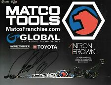 2020 ANTRON BROWN MATCO TOOLS AUTOGRAPHED  POSTCARD HEROCARD