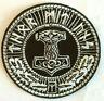 'THOR MIT UNS ' Embroidered Logo Iron on Sew-on/Iron on Patch/Logo