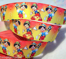 90 cm de RUBAN GALON GROS GRAIN * 25 mm **  ENFANT BOIS PINOCCHIO JAUNE ORANGE