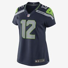 Nike NFL Seattle Seahawks Fan 12th Women's Limited Jersey-SZ MD Blue 469884 421