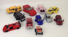 Lot 11pc Die-cast Toy Large Vehicles Cars Truck Pt Cruiser Taxi Cadillac Ferrari