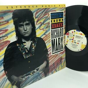 "Richard Marx Should've Known Better 12"" Inch Single Vinyl Record VG+"