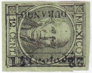 """jc060.MEXICO.1868-72.12c GENUINE """"ANOTADO"""".DURANGO.22-71.MOG/HR."""