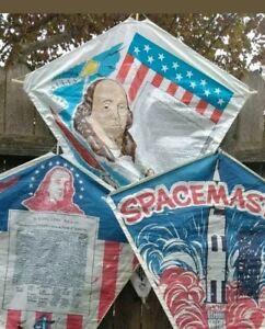 VINTAGE Top Flite KITE NEW OLD STOCK Benjamin Franklin Declaration Independence