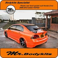 Mr. Mugen RR Rear Roof Spoiler Wing Suit Honda Civic Sedan 06-12 FD / FD 2