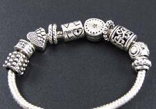 Lot 100pc Tibet Silver Big Hole Spacer Bead Charms Fit European Charm Bracelet