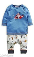 New Next Baby Boys Christmas Outfit Age 3 6 Months Santa Top And Bottoms Set NWT