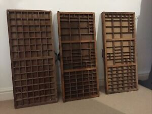 wooden letterpress printers trays