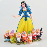 cute Snow White and the Seven Dwarfs figure PVC figures set of 8PCS girl gift