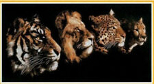 "NEW Cross Stitch Kits""Four animal head"" 14CT:70CM*34CM"