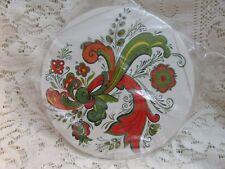 Vintage Bergrenn-Trayner Rosemaled Round Trivet Tile NOS #2