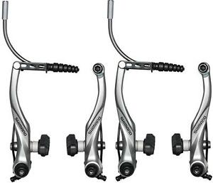 Shimano BR-T4000 Alivio V-Brake Front & Rear Kit Brake Caliper Set SILVER M422