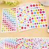 6 Sheets/Set Dot Star Love Shape Stickers For School Children Teacher Reward DIY