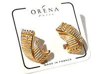 Bijou alliage doré créateur boucles d'oreilles chics clips ORENA Paris