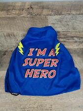 Top Paw Size Medium Halloween Collection Blue I'M A SUPER HERO Cape Costume Dog