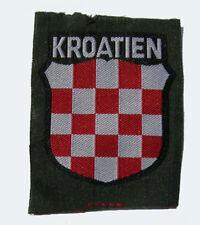 German WW2 Kroatien sleeve shield