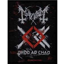 OFFICIAL LICENSED - MAYHEM - ORDO AD CHAO SEW ON PATCH BLACK METAL