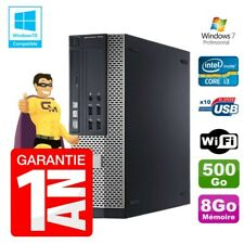 PC Dell 7010 SFF Intel I3-2120 RAM 8Go Disque 500Go DVD Wifi W7