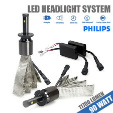 D2S 90W 11700LM Genuine PHILIPS CHIP LED Headlight Kit Hi or Low Beam Light Car