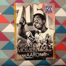 #33 Hank Aaron Braves HOF 5x7 (#/10 made) Gold 2019 Topps 150 Years of Greatest