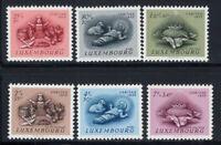 Luxemburg 1955 Mi. 541-546 Postfrisch 100% Caritas, Zoll