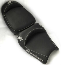 99-05-07 Hayabusa Custom Shaped & Covered Front & Rear Chrome Embroidered Seats!