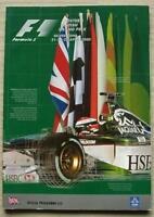 BRITISH GRAND PRIX 2000 Silverstone FORMULA ONE F1 Official Programme