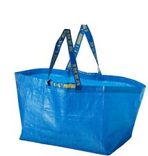 NEW IKEA LARGE BLUE BAG Shopping Grocery Laundry Storage Tote Bags Strong FRAKTA