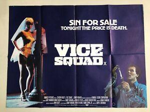 Vice Squad, 1982 UK Quad Movie Poster