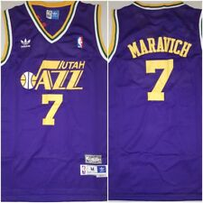 RARE Pete 'Pistol' Maravich Utah Jazz Replica Throwback MEDIUM Basketball Jersey