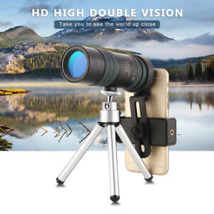 4K 10-30X30mm Telephoto Zoomable Monocular Telescope Portable Binocular W/Tripod