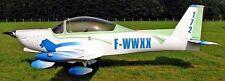 APM-30 Lion Issoire France Utility Airplane Mahogany Wood Model Large New