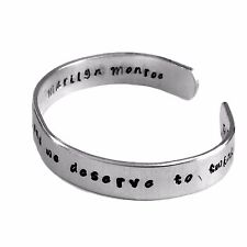 Marilyn Monroe Inspired Cuff Bracelet - We are all of us stars, and we deserve..