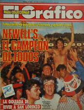 NEWELL´S OLD BOYS Champion 1987/88 Magazine - VS INDEPENDIENTE 6-1