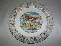VINTAGE 1960-70S ATLANTIC CITY NEW JERSEY STEEL PIER SCENE  SOUVENIR PLATE