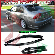 For 01-05 Honda Civic 4dr Sedan Smoke Side Window Visors Rain Guard Deflector