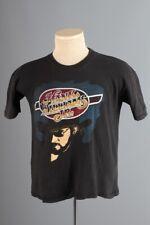 Vtg Men's 1970s 1980s Hank Williams Jr. T-Shirt sz M 70s 80s Black Cotton Tshirt