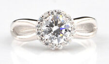 Ravishing Round Shape 925 Sterling Silver 2.25 Carat Solitaire Women's Ring