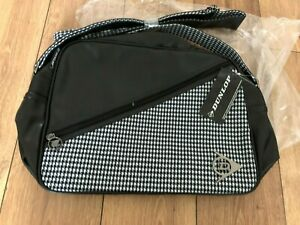 Dunlop PVC Flight Bag Black & White New with Tags