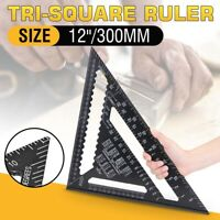 2X 12'' LARGE ROOFING SPEED SQUARE ALUMINIUM RAFTER ANGLE MEASURE TRIANGLE GUIDE