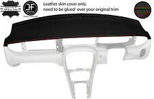 RED STITCH TOP DASH DASHBOARD REAL LEATHER COVER FOR JAGUAR X-TYPE 2001-2009
