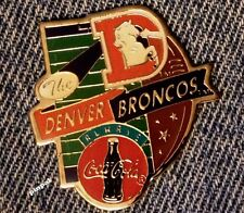 Denver Broncos Pin~NFL~Football~1994 vintage~Coca Cola Coke~New Old Stock