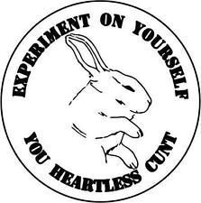 Experiment on Yourself Rabbit Vegan die cut vinyl decal sticker window car