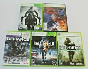 Lot of 5 Xbox 360 Games! 3 Complete! Tested! Devil May Cry 4, Darksiders II, COD