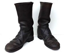 Bottes de marche, tige rigide,  cuir noir, Marschstiefel  Militaria WW2