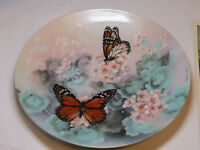 On Gossamer Wings Monarch Butterflies Lena Liu collector plate 1st 1988 #%